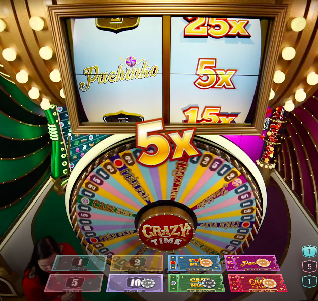 Pachinko 5x Multiplier Crazy Time